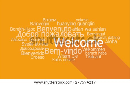 Welcome Tag Cloud in vector format. - stock vector