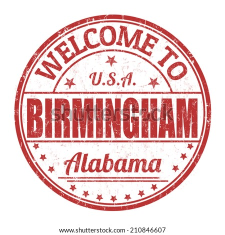 Welcome to Birmingham grunge rubber stamp on white background, vector illustration - stock vector
