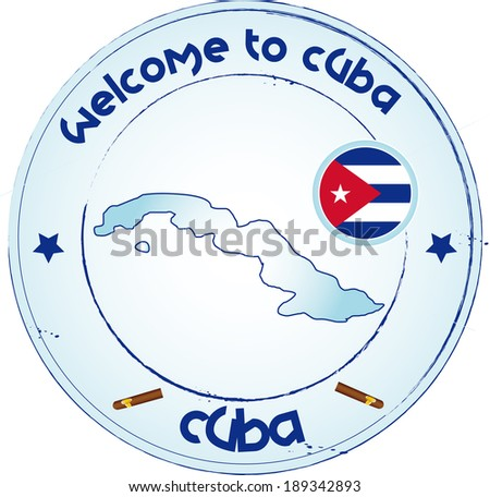 Welcome to Cuba - stock vector