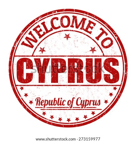 Welcome to Cyprus grunge rubber stamp on white background, vector illustration - stock vector