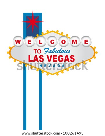 welcome to fabulous las vegas nevada sign over white background. vector - stock vector
