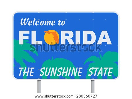 Welcome to Florida - stock vector