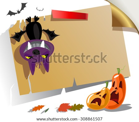 Welcome to Halloween party Poster. Vector illustration.  - stock vector