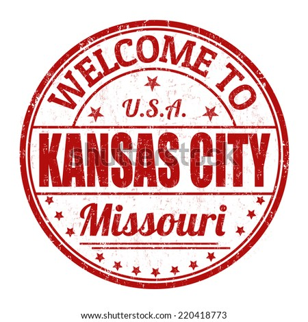 Welcome to Kansas City grunge rubber stamp on white background, vector illustration - stock vector