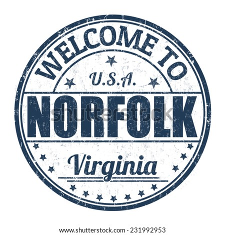 Welcome to Norfolk grunge rubber stamp on white background, vector illustration - stock vector