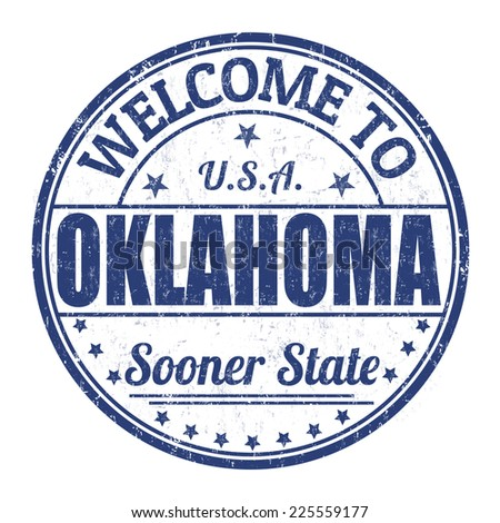 Welcome to Oklahoma grunge rubber stamp on white background, vector illustration - stock vector
