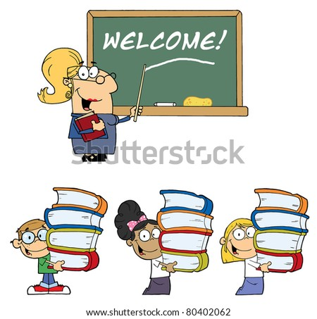 Welcome To School-Vector Collection - stock vector