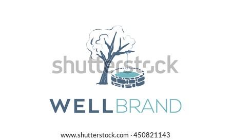 Well vector logo template - stock vector