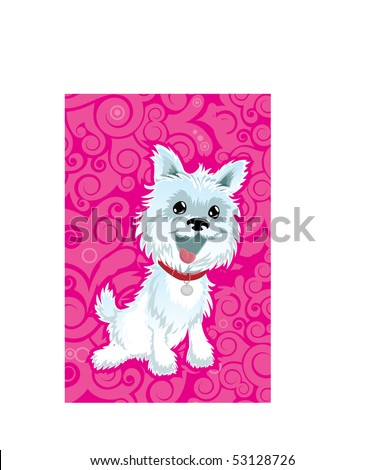 West Highland White Terrier Puppy Dog - stock vector