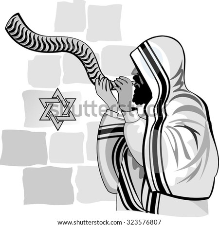 Western wall. Jerusalem. Israel. - stock vector