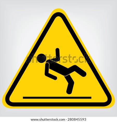 Wet Floor Sign - stock vector