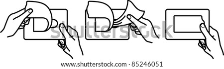 Wet wipes icons - stock vector