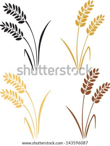 wheat & barley icon vector illustration - stock vector
