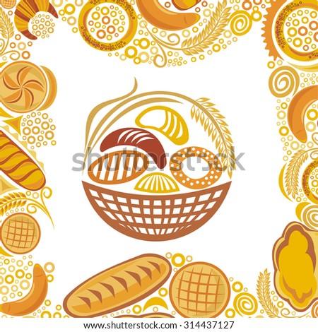 Wheat bread bakery vector illustration - stock vector