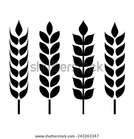 Wheat ear icon - stock vector