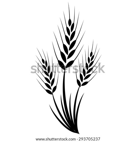 Wheat grass green icon juice black. Logo, banner, frame for business, the store site for clean super food on a white isolated background. Vector illustration EPS-10 - stock vector