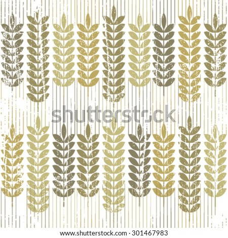 wheat grunge pattern on white - stock vector