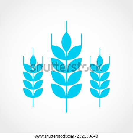 Wheat Icon Isolated on White Background - stock vector