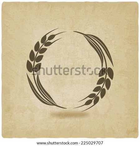 wheat old background- vector illustration. eps 10 - stock vector