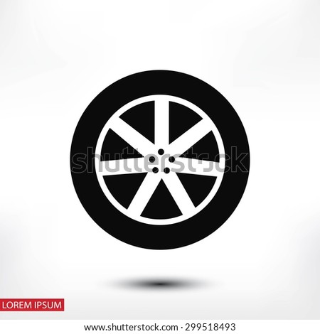 wheel icon - stock vector