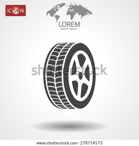 wheel icon. Vector  Eps 10  - stock vector