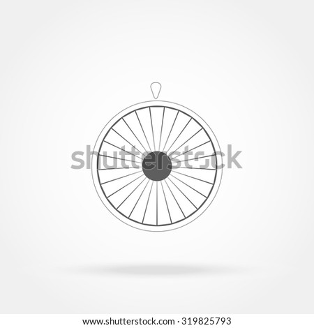 Wheel of fortune icon - stock vector