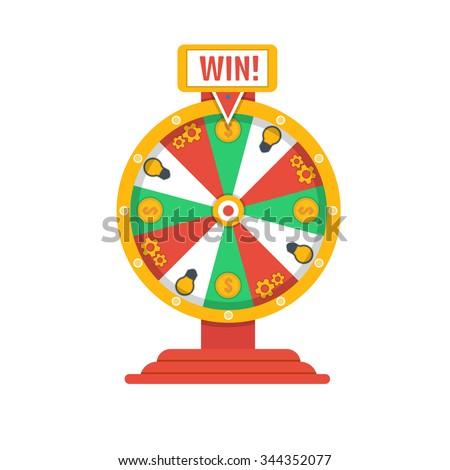 Wheel of fortune icon - stock vector