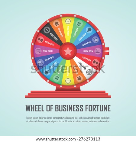 Wheel of fortune infographic design element, VECTOR, EPS10 - stock vector