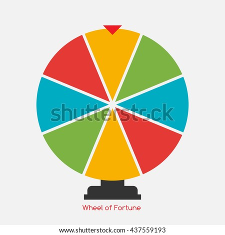 Wheel of Fortune, Lucky Icon. Vector Illustration EPS10 - stock vector