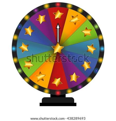 Wheel of Fortune, Lucky. Vector Illustration EPS10 - stock vector