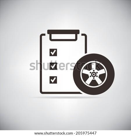 wheel repair, auto service - stock vector