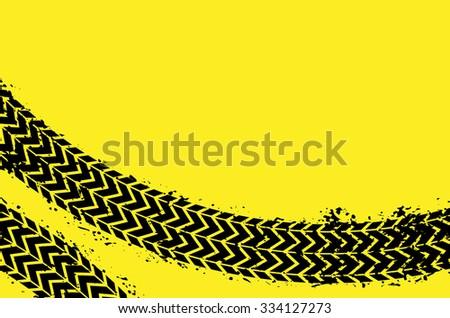 Wheel track asphalt, vector - stock vector