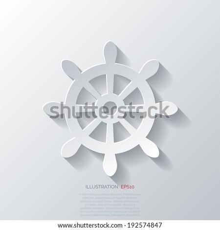 Wheel web icon. - stock vector