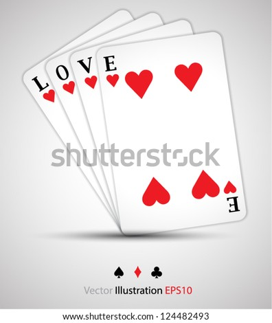 When you open you can see love / love concept - stock vector