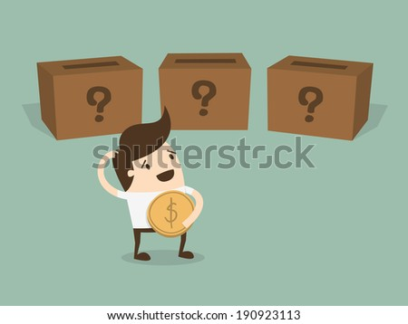 Where to invest ? - stock vector