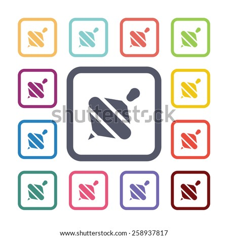 whirligig flat icons set  Open round colorful buttons  Vector - stock    Whirligig Beetle Drawing