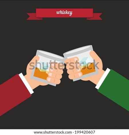 Whiskey. Flat style design - vector - stock vector
