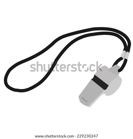 Whistle, coach whistle, whsle blowing, whistle icon, whistleblower - stock vector
