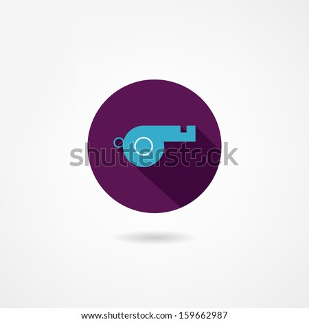 whistle icon - stock vector