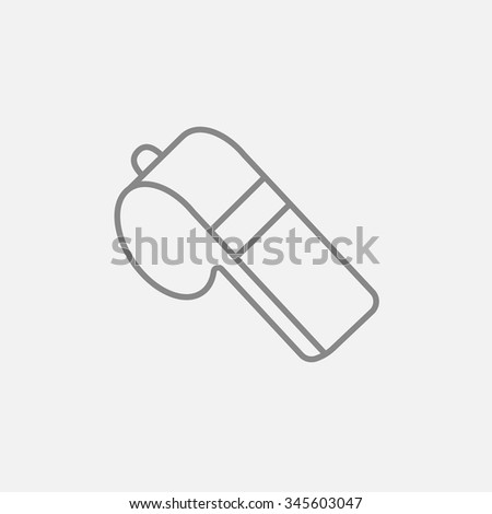 Whistle line icon for web, mobile and infographics. Vector dark grey icon isolated on light grey background. - stock vector
