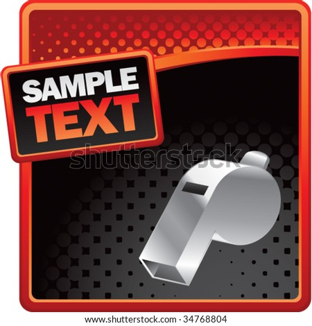 whistle on halftone template background - stock vector