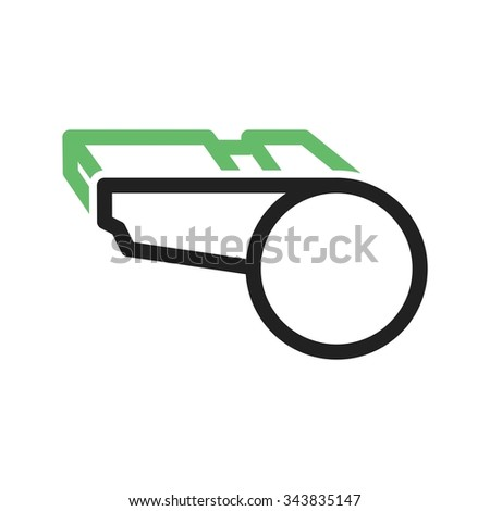 Whistle, referee, coach icon vector image. Can also be used for fitness and sports. Suitable for web apps, mobile apps and print media. - stock vector