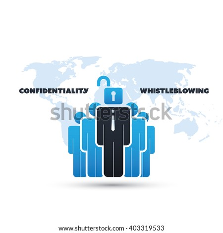 Whistleblowing and Confidentiality Problem - Panama Papers Concept Design - stock vector