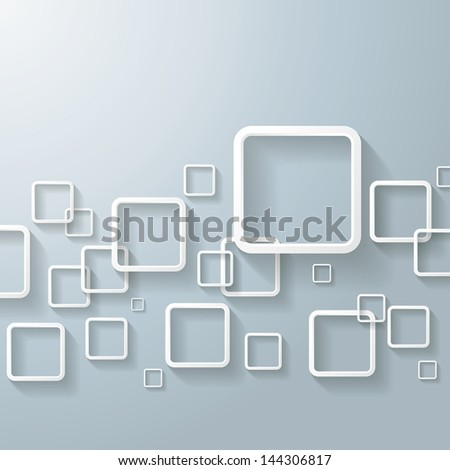 White abstract window rectangles. Eps 10 vector file. - stock vector