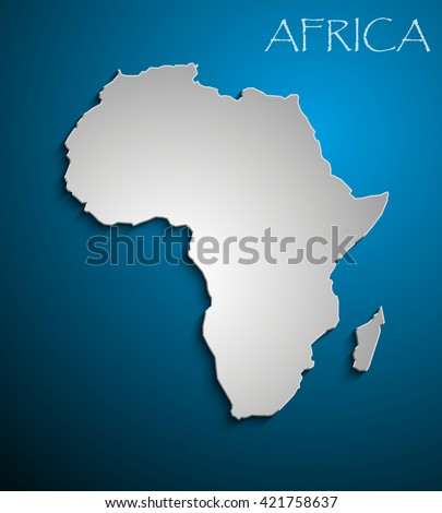 white African continent. Image Africa Icon Vector Picture.  - stock vector