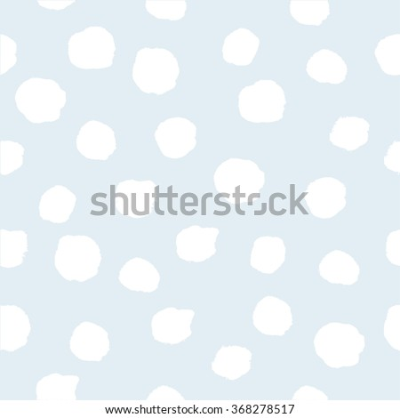 White and blue hand drawn polka dot pattern. Abstract spots background. Vector illustration. Shiny backdrop. Texture of gold foil. - stock vector