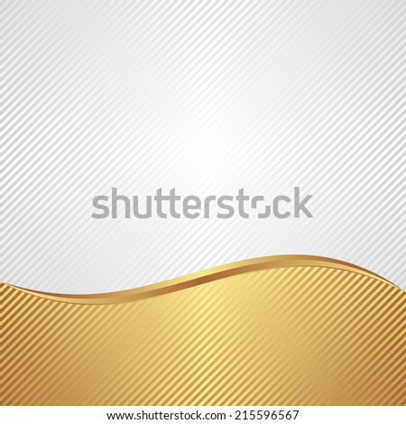 white and gold background with copy space - stock vector