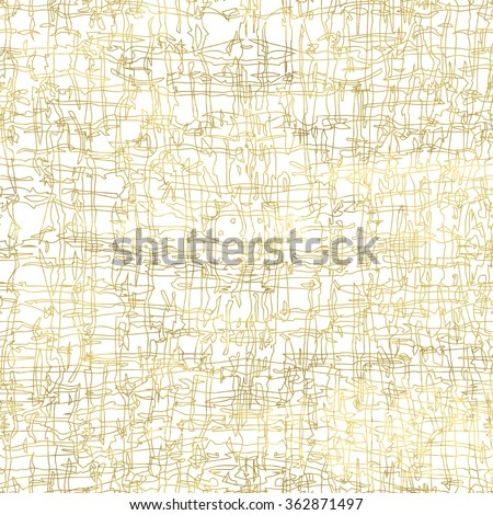 White and gold grunge vintage background. Abstract scratch background. Easy editable vector illustration.Shiny textured backdrop. Texture of gold foil. - stock vector