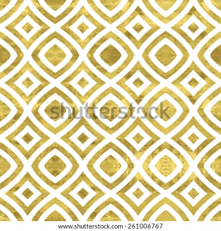 White and gold  pattern. Abstract geometric modern background. Vector illustration.Shiny backdrop. Texture of gold foil. Art deco style. - stock vector