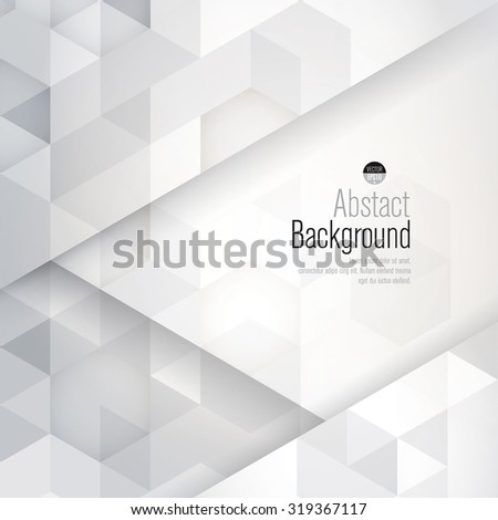 White and gray abstract background vector. Can be used in cover design, book design, website background, CD cover, advertising. - stock vector